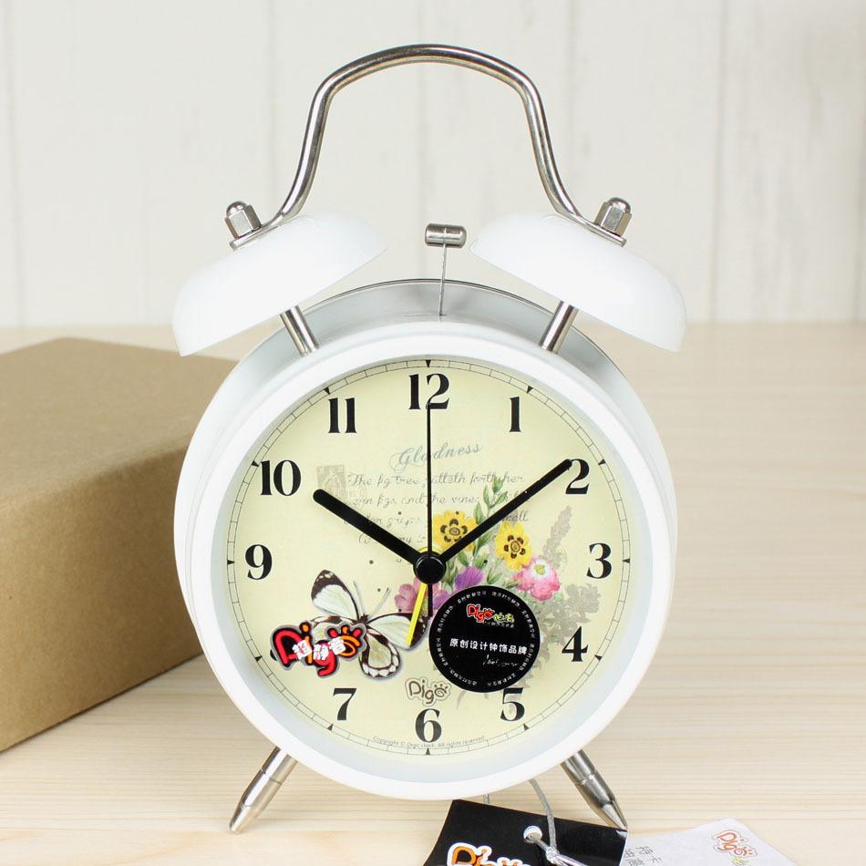 Design Table Clock Silent Alarm Clock Metal Bell Clock