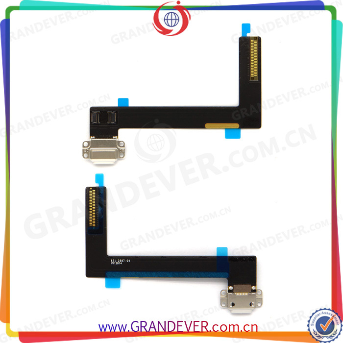 100% Good Quality Flex Cable Charger Cable Replacement Parts for iPad Air 2/ipad6 White(China (Mainland))