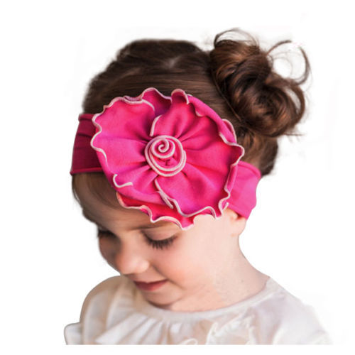 1 X Baby Infant Kids Girls Hair Head Band Flowers Elastic Bowknot Headband Headwear Hot Sale Hair Band Accessories(China (Mainland))