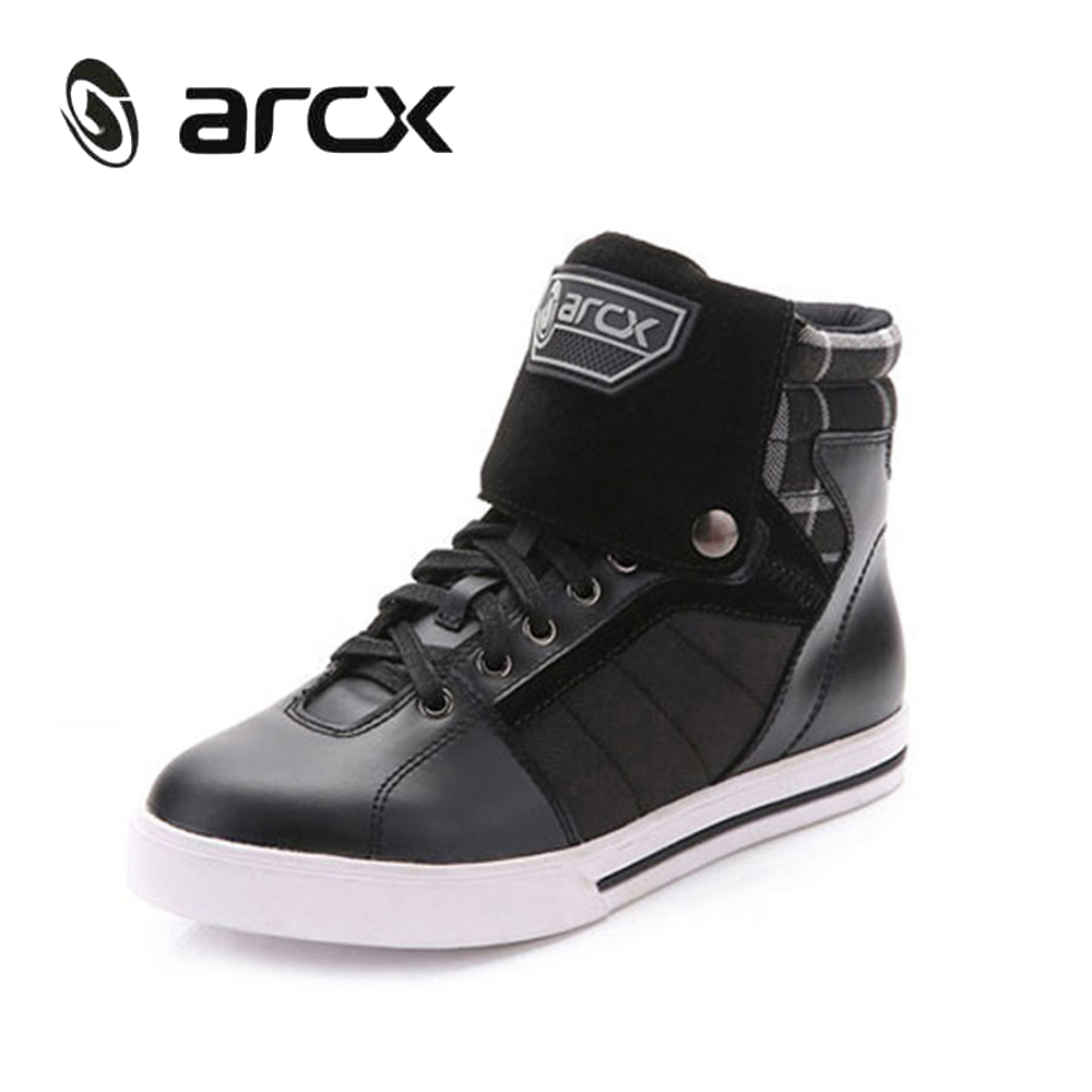 ARCX Motorcycle Riding Leisure Shoes Genuine Cow Leather Street Moto Racing Chopper Cruiser Touring Biker Motorbike Ankle Boots(China (Mainland))
