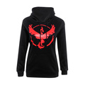 Pokemon Go Women 2016 New Fashion Character Team Mystic Team Instinct Team Valor Long Sleeve Hoodies