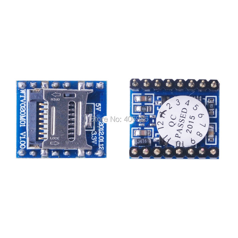 5pcs/lot U-disk audio player SD card voice  MP3 Sound Module WTV020-SD-16P for Arduino FZ0557 Free Shipping Dropshipping