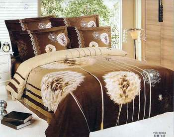 New Beautiful 4PC 100% Cotton Comforter Duvet Doona Cover Sets FULL / QUEEN / KING SIZE bedding set 4pcs nice brown flowers OP-4