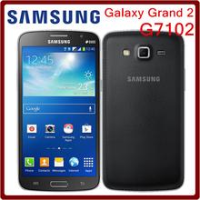 G7102 Original Unlocked Samsung G7102 Grand 2 GPS 8GB ROM 8MP Quad Core Dual SIM Cards Refurbished Smartphone Free Shipping(China (Mainland))