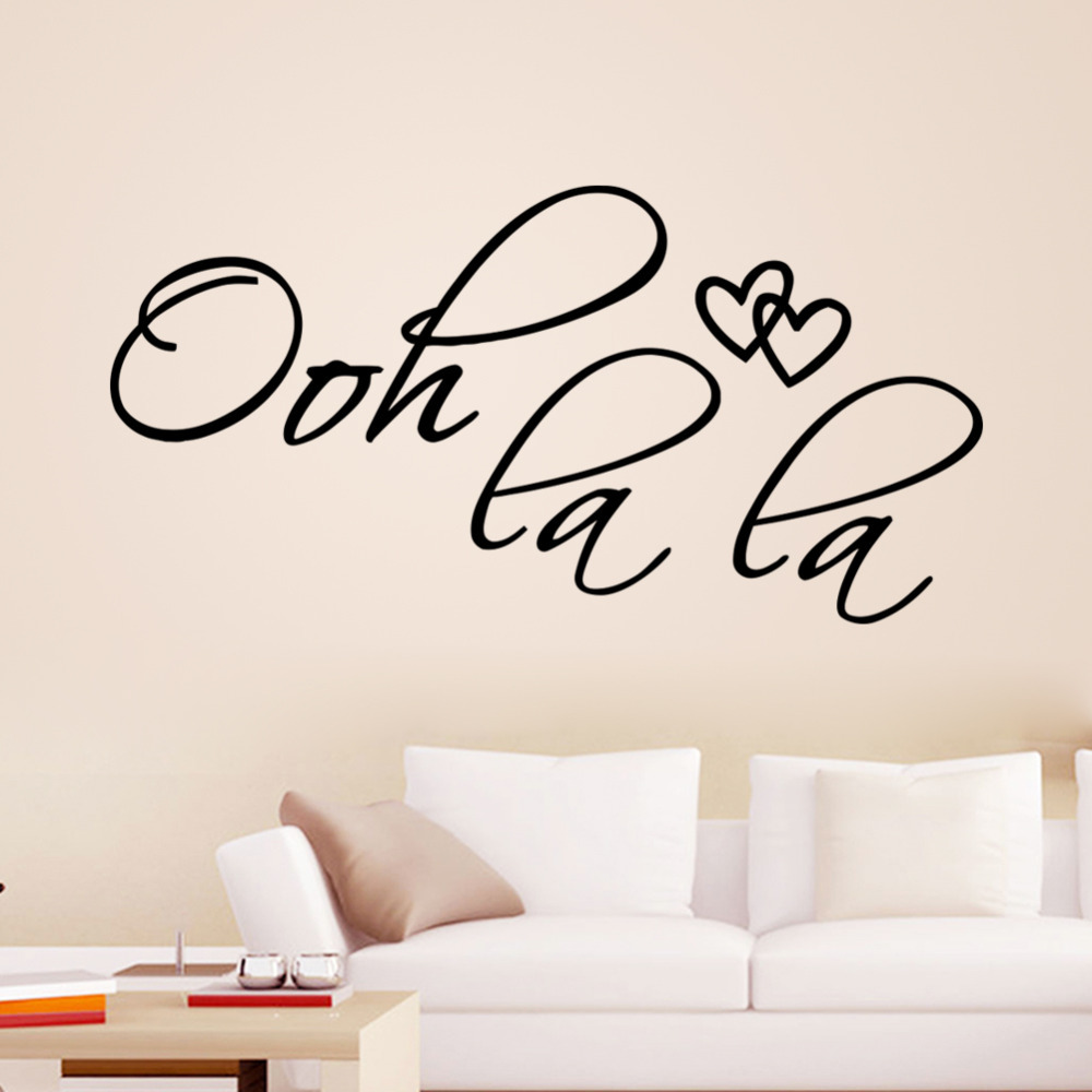 ooh la la wall quotes 8418 removable love heart vinyl wall
