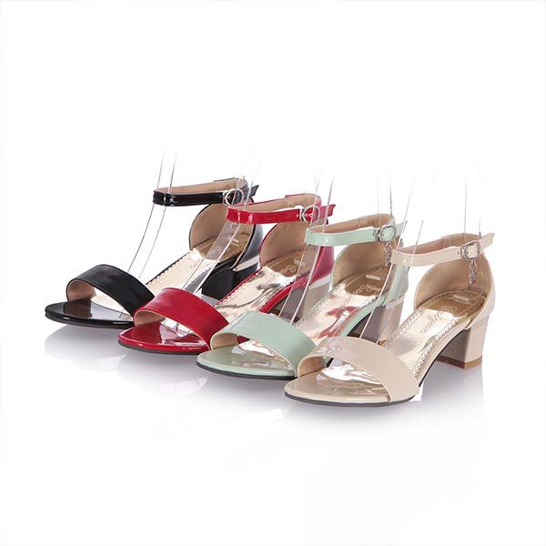 2015 summer new open toe thick hells solid color thick-heeled shoes breathable and comfortable shoes for women D1035<br><br>Aliexpress