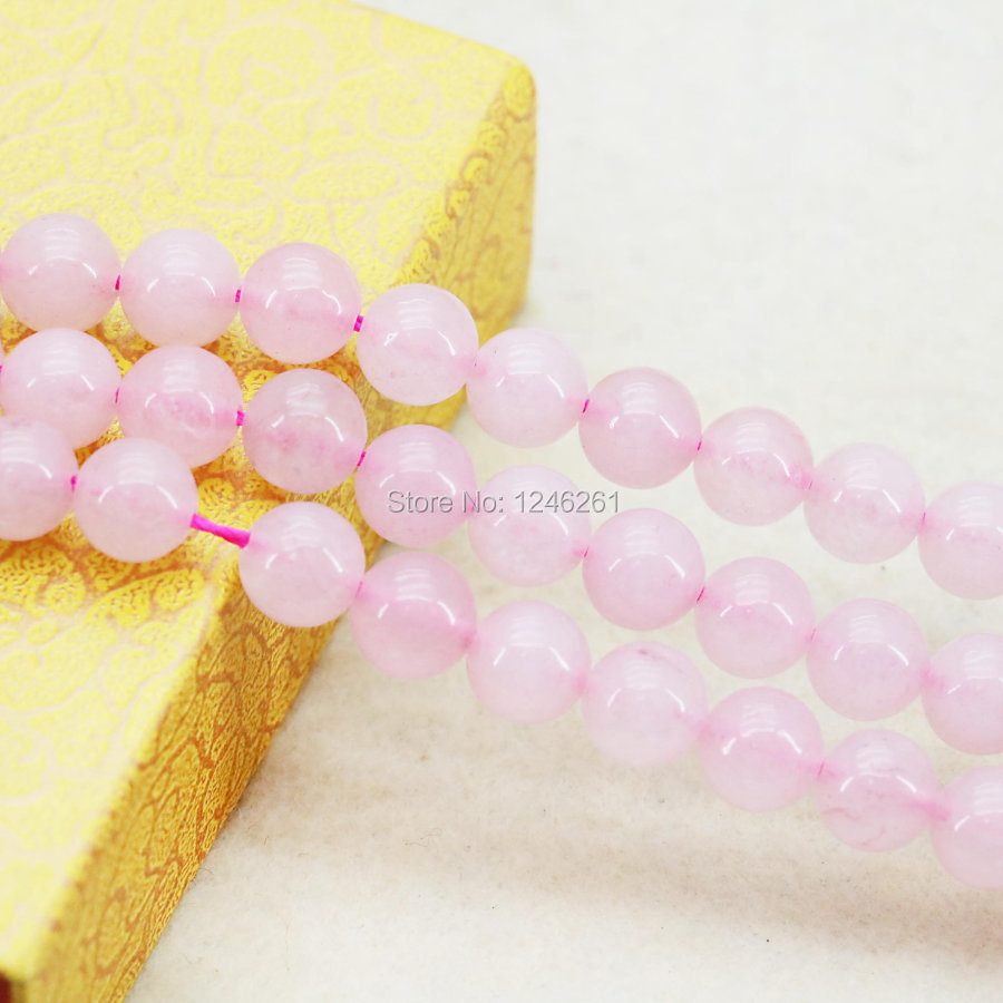 8mm Hot Sale Accessories Crafts Loose DIY Beads Jasper Jade Stone Jewelry Making Pink Amethyst Crystal Round Beads Girls 15inch(China (Mainland))