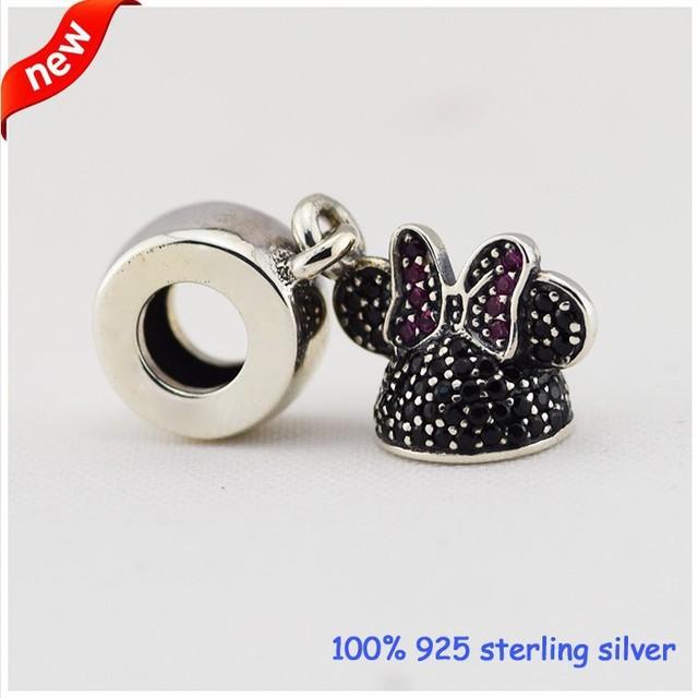 925 серебряные ювелирные изделия бусины неискрящий CZ камни мультфильм подвески Fit пандора шарма и ожерелье DIY ювелирных украшений
