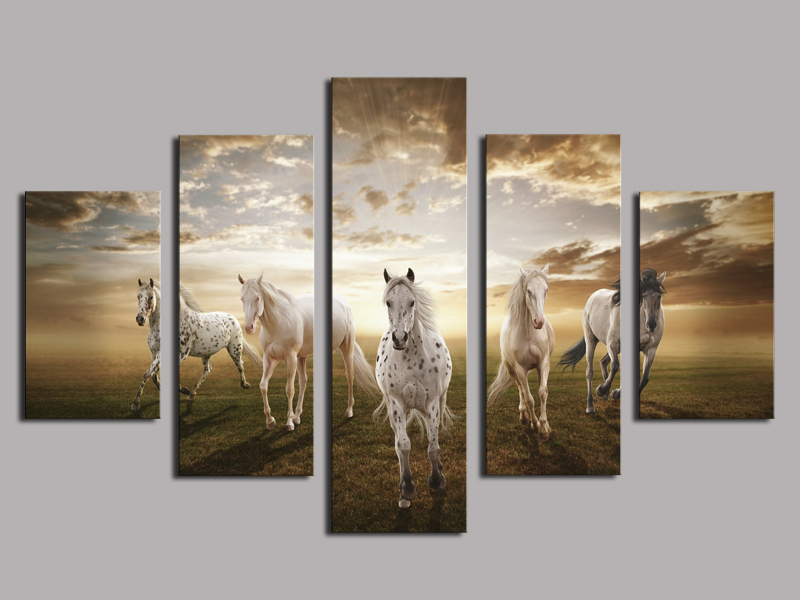 Wall Decor And Paintings : High quality cheap price art pictures running horse large