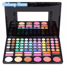Buy 1pcs Fashion Pro 78 Colors Eyeshadow Palette Makeup Powder Cosmetic Brush Kit Box Mirror Women Beauty Tools cosmetics for $14.73 in AliExpress store