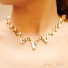 Women's Fashion Korean Wave Style Choker Statement Bib Chunky Necklace Jewelry