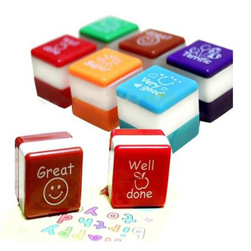 Les enseignants Stampers auto - encrage louange cadeaux timbres Motivation autocollant école papeterie approvisionnement enfants jouet bricolage journal sculpté cadeau(China (Mainland))