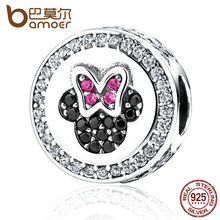 Buy BAMOER Classic 925 Sterling Silver Bow Knot Minni Cartoon Bead Charms Fit Bracelets Beads & Jewelry Making PAS381 for $12.24 in AliExpress store