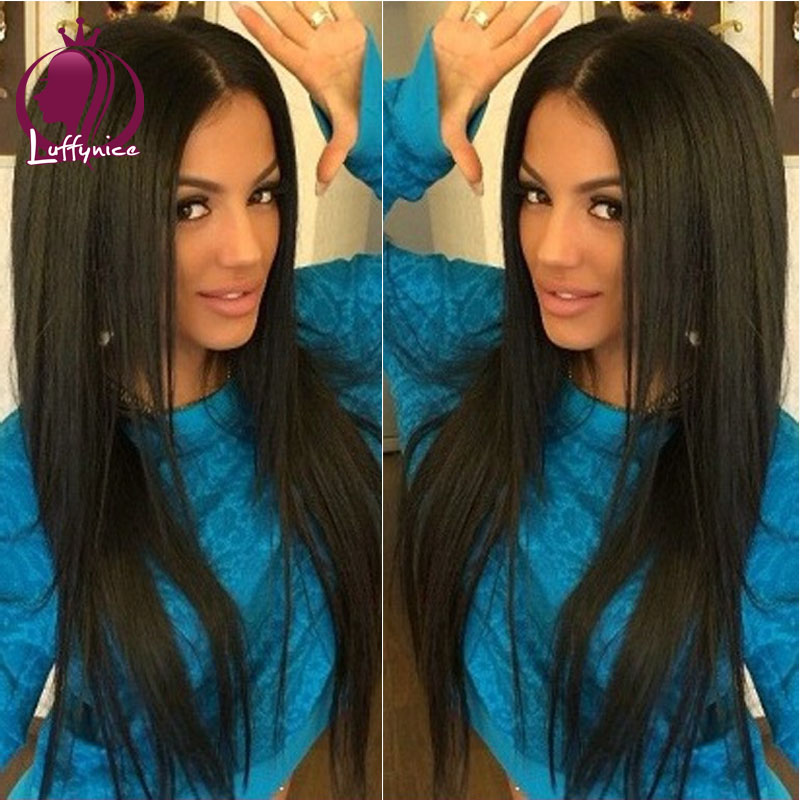 Unprocessed virgin brazilian hair u part wig silky straight u part wigs for sale 100 human hair wigs for african americans 130%<br><br>Aliexpress
