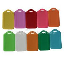 New Many Colors 10pcs Luggage Lables Easy Portable Plastic Travel Luggage Bag Tags Wholesale(China (Mainland))