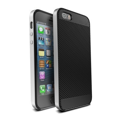 Luxury Hybrid case For iphone 6 hard PC frame+Silicon Protective back cover for iphone 6s plus 7 plus Mobile phone housing shell