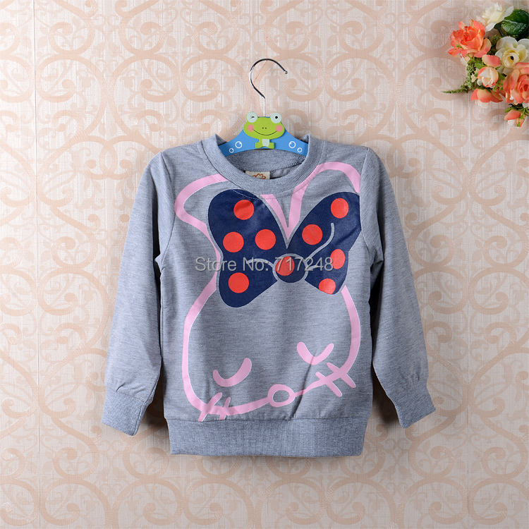 New 2014 t-shirts, cotton long sleeve children t shirts, cute animal cartoon  girls long sleeves T shirts<br><br>Aliexpress