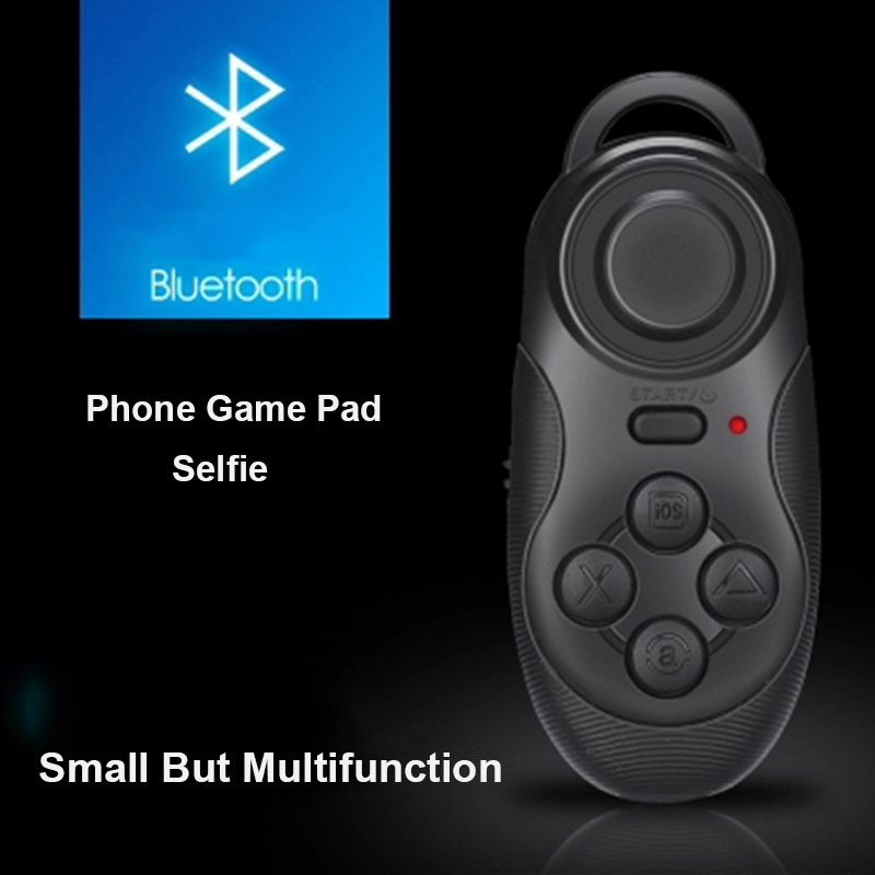4 in1 Mini Wireless Portable Bluetooth Remote Gamepad Game Controller Joystick For Android/iOS Sony PC Selfie Remote Shutter(China (Mainland))