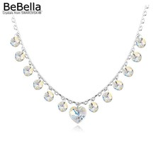 BeBella crystal heart charm necklace Made with SWAROVSKI ELEMENTS 2016 new design for Mother's Day gift(China (Mainland))
