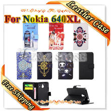Hot Sale For Microsoft Lumia 640 XL Case Flip PU Leather Case For Nokia Lumia 640 XL Wallet Stand Card Slot Phone Cover Bag