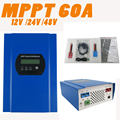 60A MPPT Solar Charge Controller with LCD 48V 24V 12V Automatic Recognition RS232 Interface to Communicate