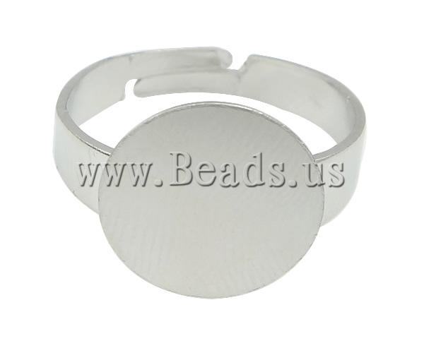 Free shipping!!!Brass Pad Ring Base,Wholesale, platinum color plated, nickel, lead & cadmium free, 12x12mm, Hole:Approx 17mm(China (Mainland))