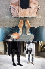 6 colours chelsea boots kanye west boots real leather 1:1 fishion life style euro and America pop type(China (Mainland))