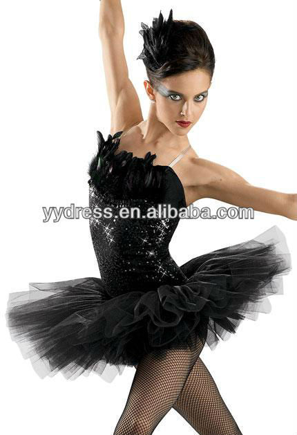 Black Feather Black Swan Tutu Adult Ballet Leotard Ballerina Dress Ballet Tutu Dancewear Contemporary Dance Costumes XXS-5XL(China (Mainland))