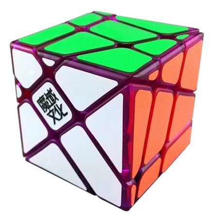 YJ MoYu Crazy Fisher Speed Cube Puzzle Limited Edition Transparent Purple(China (Mainland))