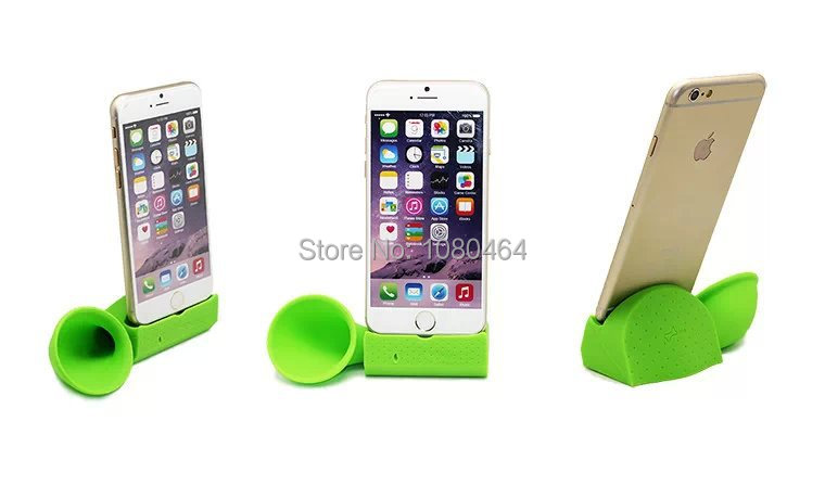 Silicon Horn Stand Amplifier for iphone6 plus Speaker Loud peaker for iphone6 plus dock speaker 5.5 inch dock for free shipping(China (Mainland))