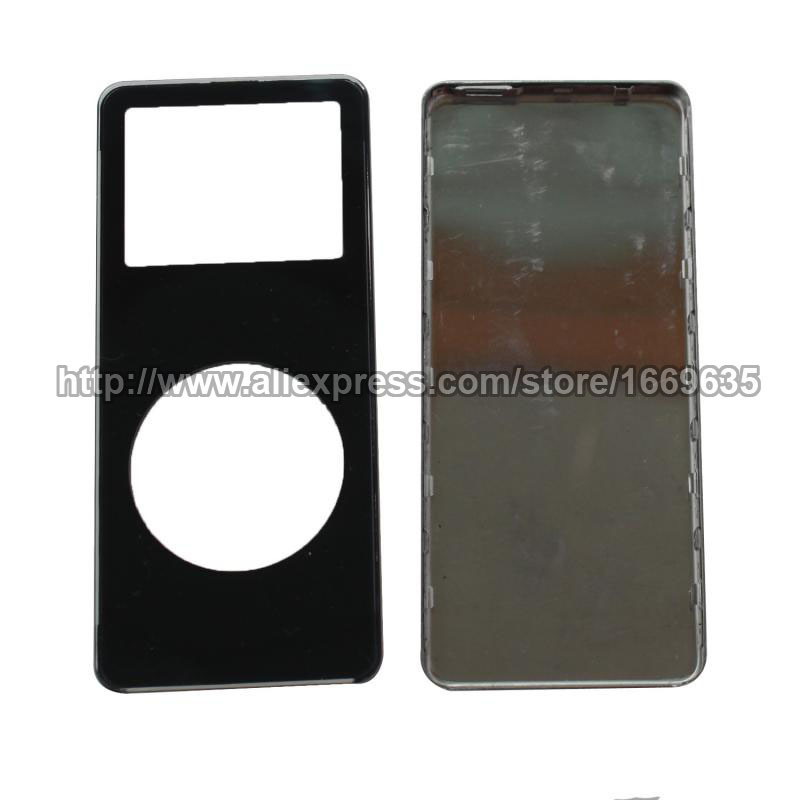 Black Front Housing Cover Faceplate + Back Cover Housing Case Fix Parts for iPod Nano 1st Gen(China (Mainland))