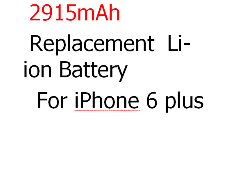 5PCS Original Brand Replacement Li-ion Battery 2915 mAh For Apple iPhone 6 Plus 5.5 inch Original battery Free Shipping(China (Mainland))