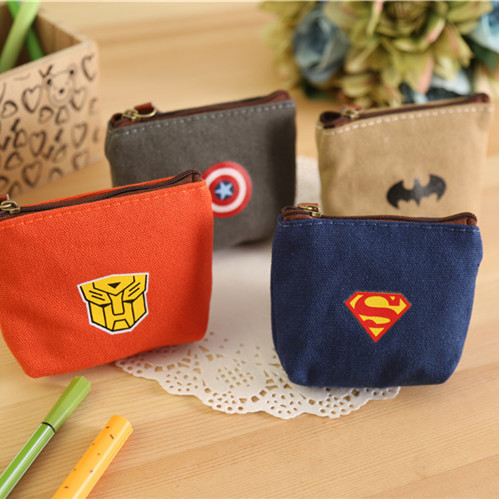 Creative Super American Heroes Mini Coin Purse Key Wallet Pouch Mini Wallet Multi-Function Storage Bag Retail TRD(China (Mainland))