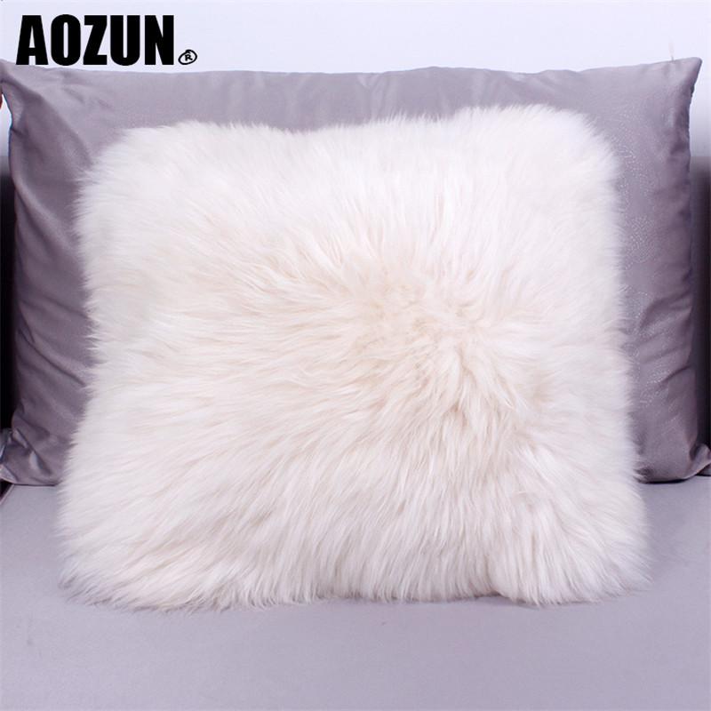 AOZUN Australia Sheepskin luxury fur cushion wool filled insert include inner pp cotton decorative throw pillow sofa(China (Mainland))