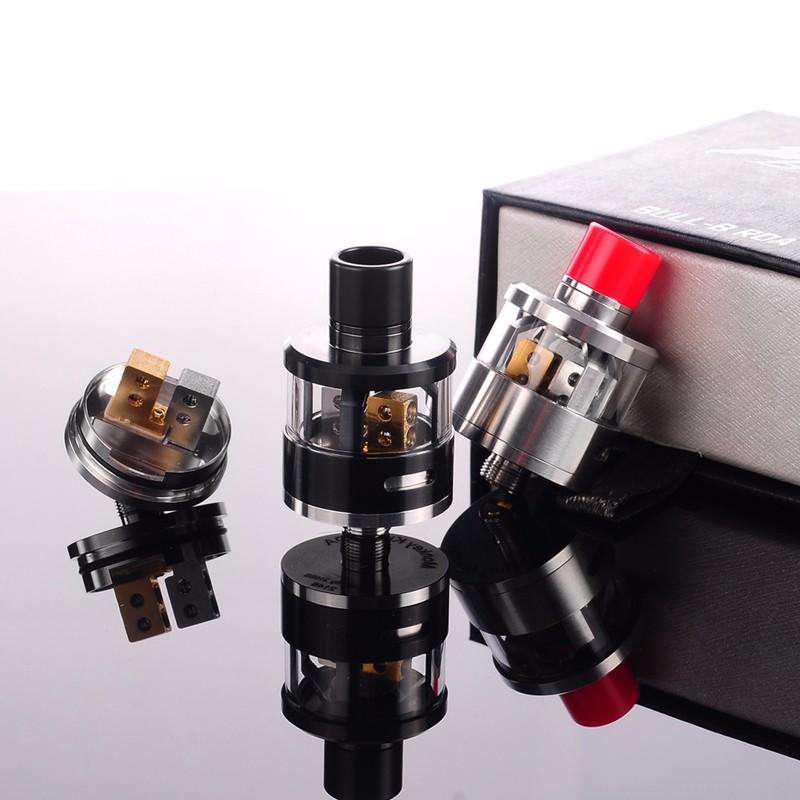 ถูก บุหรี่อิเล็กทรอนิกส์เครื่องฉีดน้ำRebuildable RDAหยดถังกระทิง-Bเครื่องฉีดน้ำหยดถังแก้วสำหรับTopbox Cubisสมัย