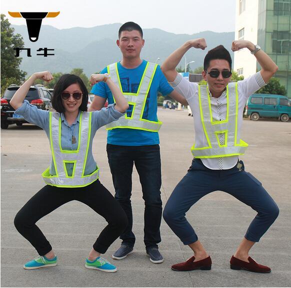 Светоотражающий жилет, Рабочая одежда обеспечивает высокое видимость день и ночь для запуска, Велоспорт, Прогулки и т . д . безопасности