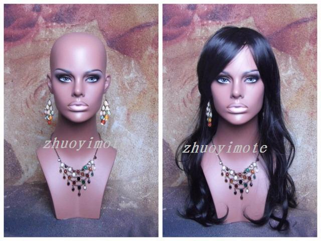 Fiberglass Realistic female mannequin head Manikin dummy bust mask&hat & sunglass jewelry&wigs display  -  International Love store