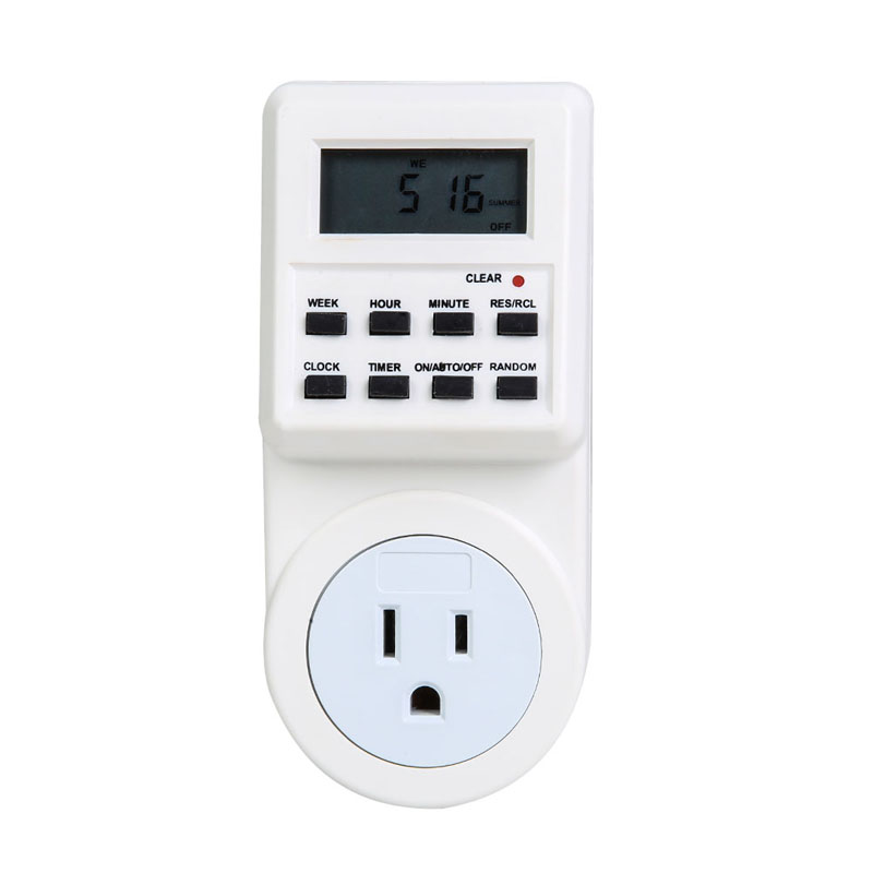 FW1S TS-T01-US Electronic Plug-in Programmable 12/24 Hour Timer Switch Socket