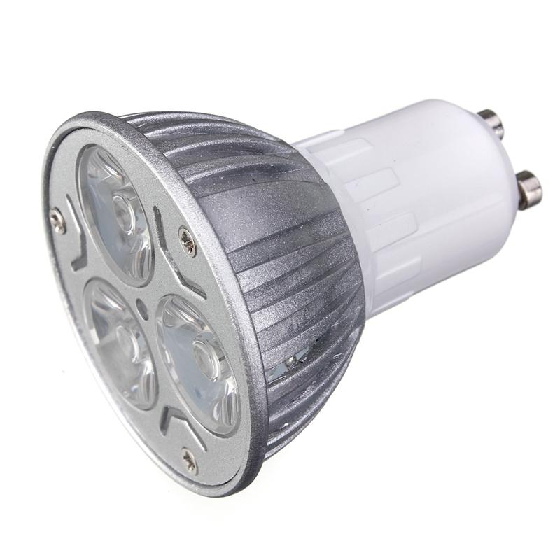 Lowest Price GU10 3W 3 LED High Power Spotlight Home Light Lamp Bulb 220V Red/Blue/Yellow/Green(China (Mainland))