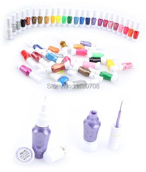 24 цвета 2-полосная ложные искусства ногтя кисть лак польский