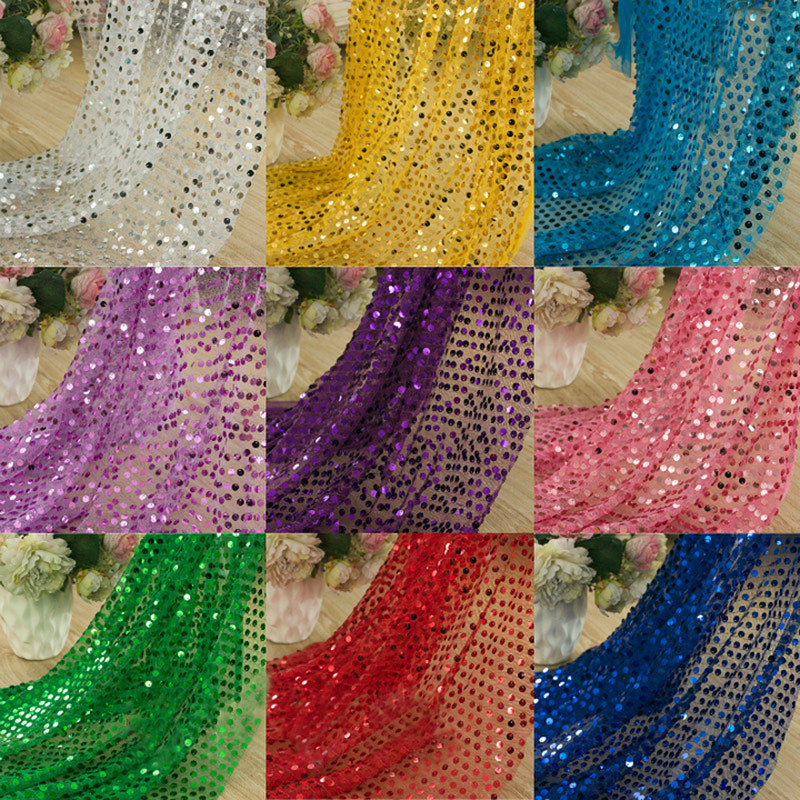 9mm paillette embroidery tulle fabric sequin fabric for sewing dance clothing wedding party. Black Bedroom Furniture Sets. Home Design Ideas