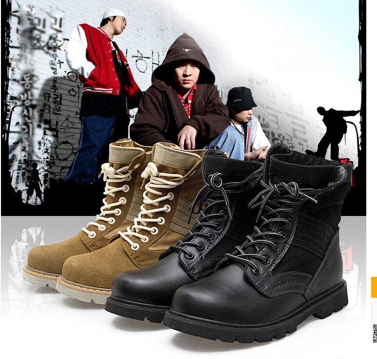 2014 new Desert boots man's combat boots Martin boots man's shoes specially trained breathable free shipping(China (Mainland))