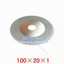 10 / pack, galvanizado diamante discos de corte, usted puede cortar duro y materiales frágiles como cerámica y vidrio. 100 * 20 * 1