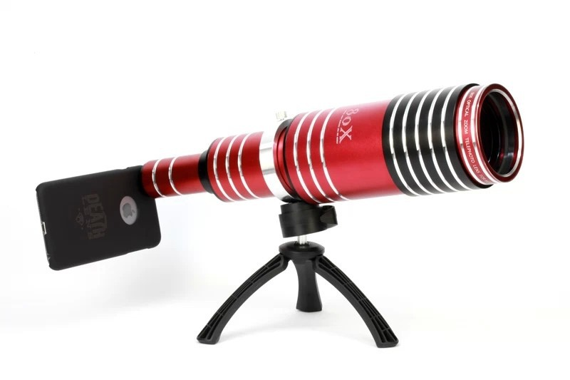 Optical zoom telescope lens for iphone plus with case tripod