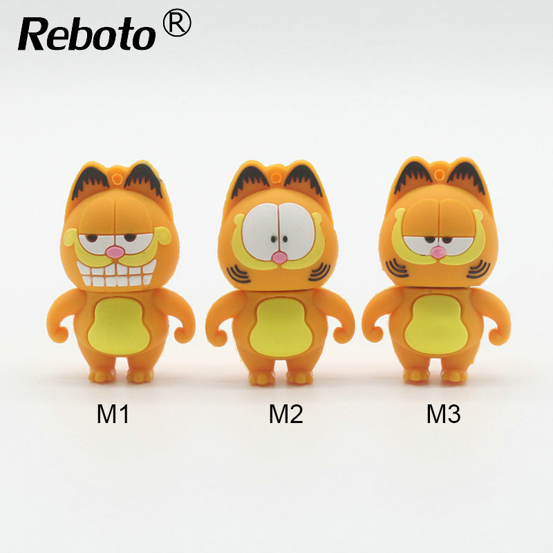 cartoon Garfield usb flash drive pen drive 64gb flash memory stick 4gb 8gb 16gb 32gb ceartive cat model pendrive usb stick(China (Mainland))