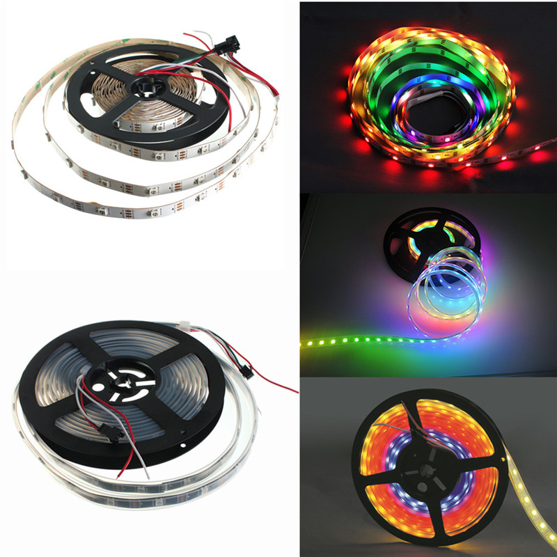 Excellent Quality Durable WS2812B 5050 RGB LED Strip Light Lamp Waterproof/ Non Waterproof Individual Addressable DC5V