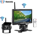 Wireless Truck Vehicle Backup Camera 7 inch HD Monitor IR Night Vision Parking Assistance Waterproof Rear