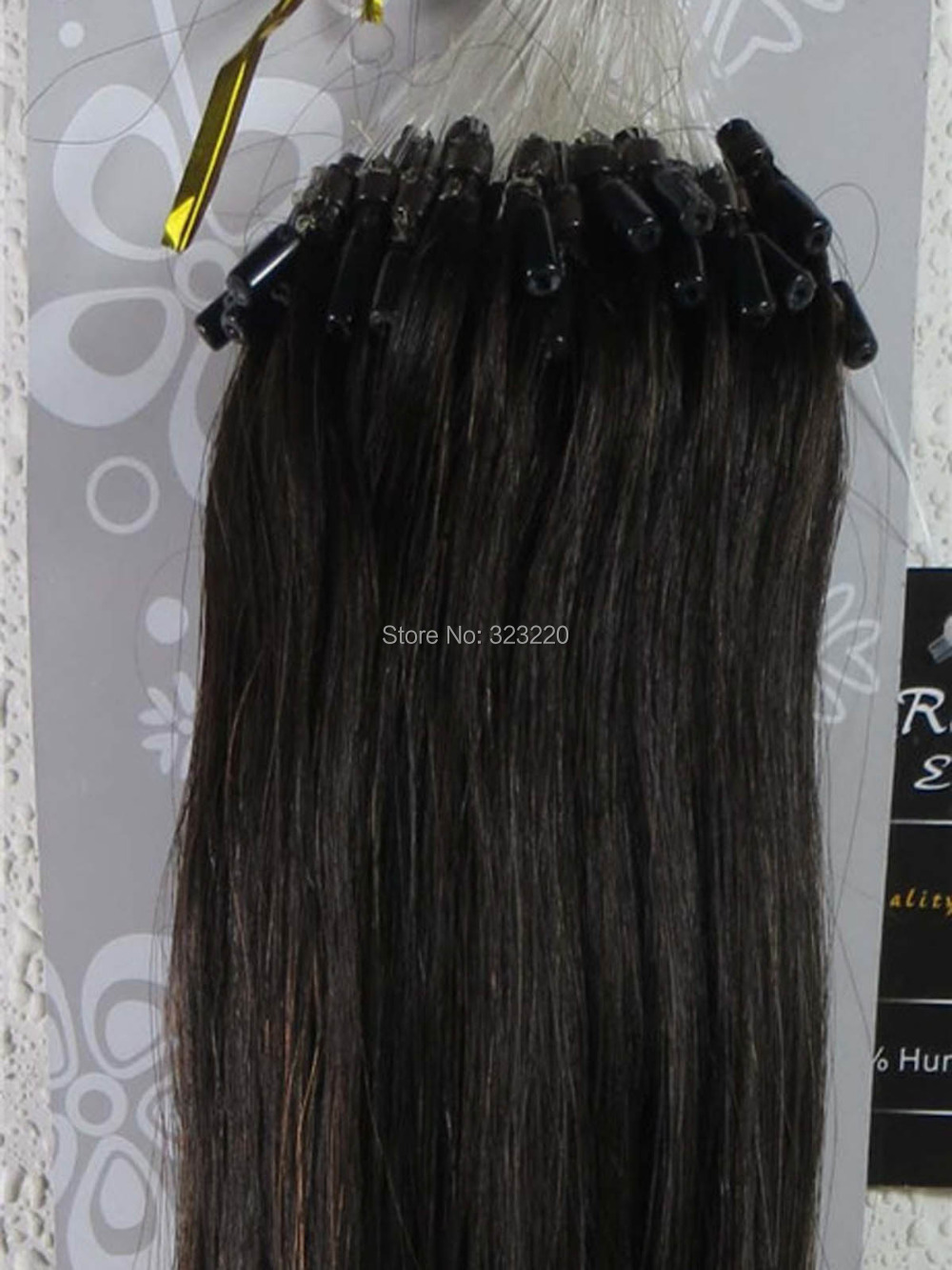 Wholesale Virgin Brazilian 20 22 Womens Human Hair Remy Micro Loop Tip In Extensions Straight 0.5g/s 100s Darkest Brown #2<br><br>Aliexpress