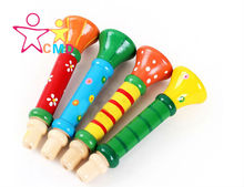 Colorful wooden children color small speakers sound mini puzzle toy musical instruments whistle genuine YX770(China (Mainland))