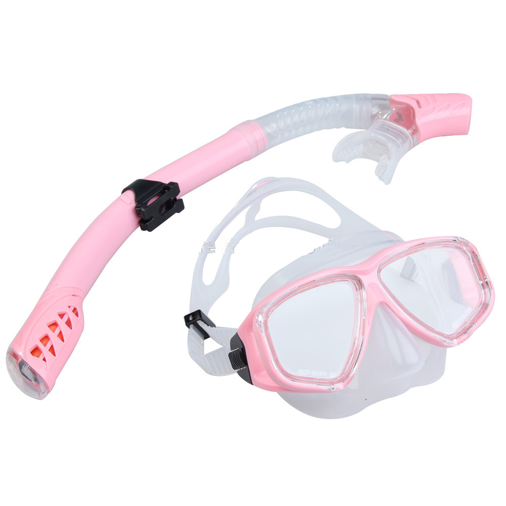 1 set diving and snorkel gears adult diving mask with dry snorkel design waterproofing snorkel set cheap price freeshipping<br><br>Aliexpress